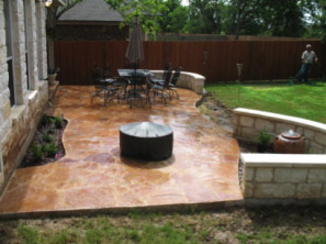austin hardscape patio design