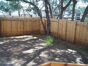 austin landscaping project - before