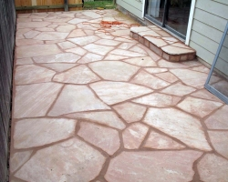 Arizona Pink Flagstone Patio