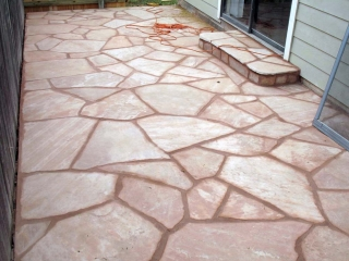 Arizona Pink Flagstone Patio