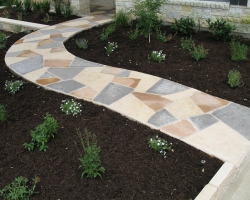 Custom Hardscape Blended Stone Walkway