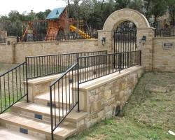custom stone entrance