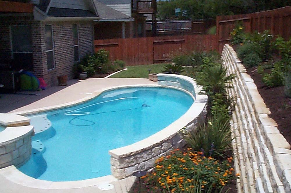 poolscape after