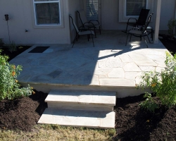 oklahoma blonde flagstone patio