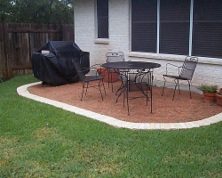 brick border patio