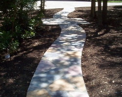custom mix stone path