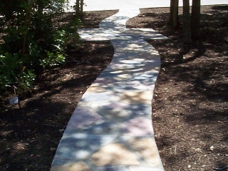 custom mix stone path