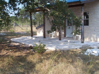 rustic limestone patio