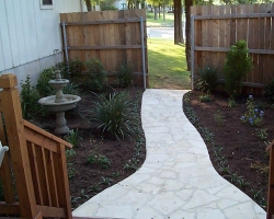 limestone saw cut walkway