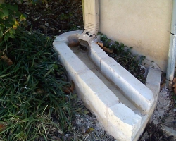 limestone gutter splash block
