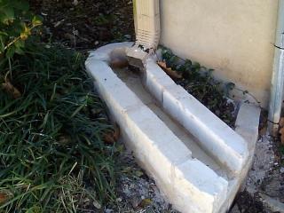limestone gutter splash block