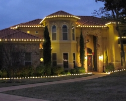 Tall Home With Christmas Landscape Bed Lights