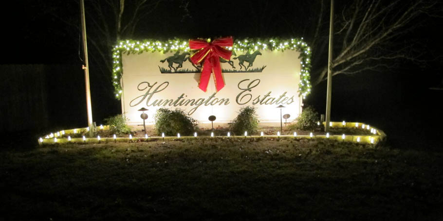 Huntington Estates sign