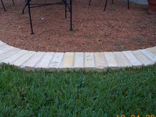 brick border closeup