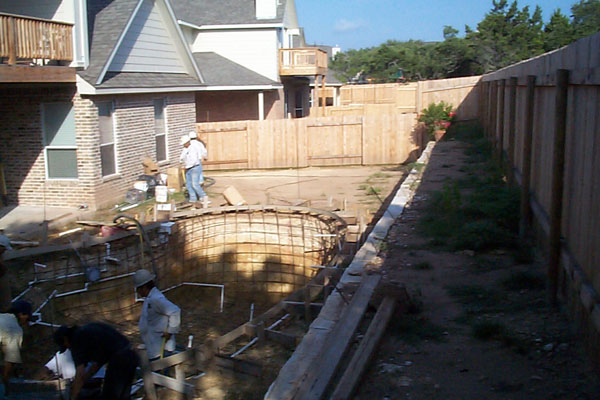 poolscape before
