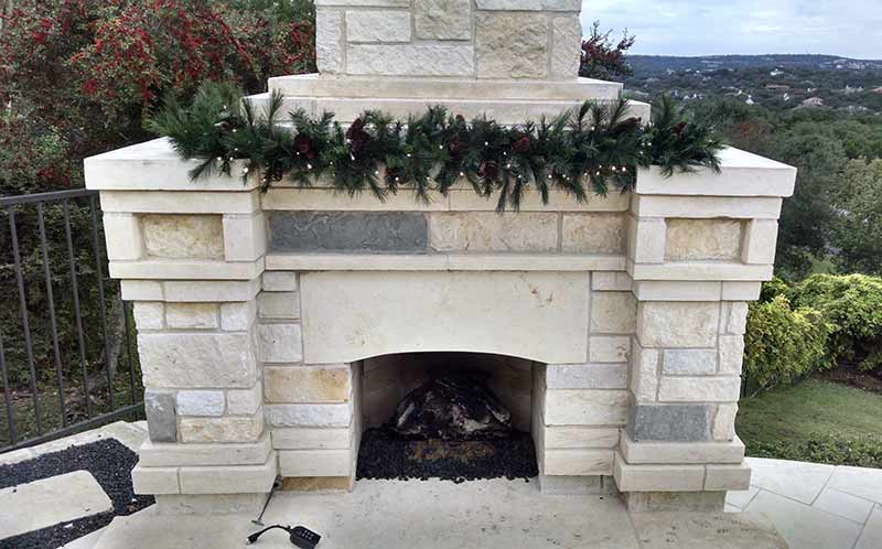 Mixed Noble Garland Fireplace
