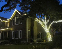 christmas lighting installation in austin tx residential christmas light installation - Christmas Lights Austin Tx
