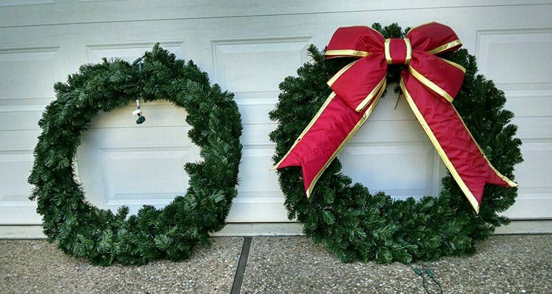 holiday wreaths by plantscape solutions of austin